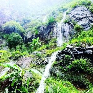 Waterfalls on Santo Antao after the heavy rain