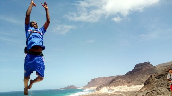 for active travellers on the Cape Verde Islands with vista verde tours - happiness